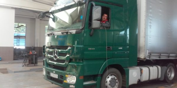 Випробування гальмівної системи вантажного автомобіля